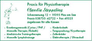 Plakat Claudia Steppeling