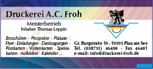 Plakat Druckerei Froh