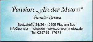 Plakat Pension An Der Metow